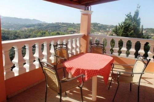 A balcony or terrace at Villa Leonidas