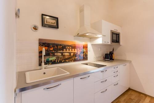 Η κουζίνα ή μικρή κουζίνα στο All4you Apartments