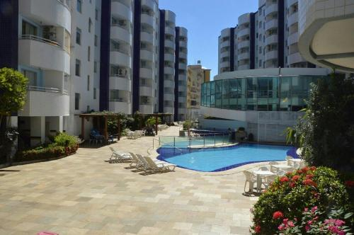 The swimming pool at or near Águas da serra