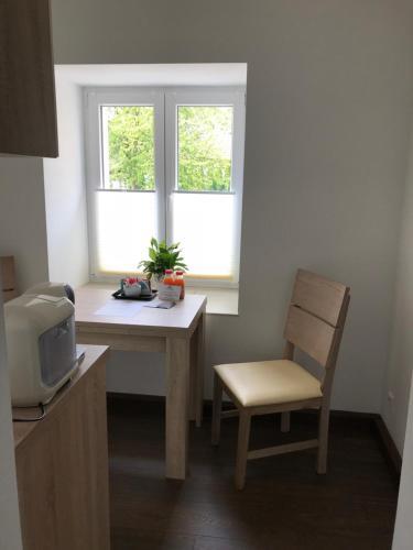Ein Sitzbereich in der Unterkunft Living Apart Leipzig