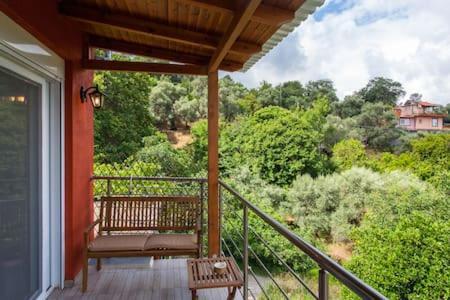Balkón alebo terasa v ubytovaní Zoi's House Luxurious Vacation