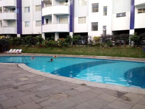 The swimming pool at or near Apartamento no Águas da Serra