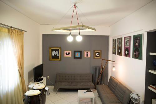 Ein Sitzbereich in der Unterkunft Stylish Apartment for Couples&Family