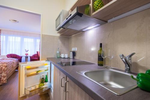 Küche/Küchenzeile in der Unterkunft Apartment-Hotel Hamburg Mitte