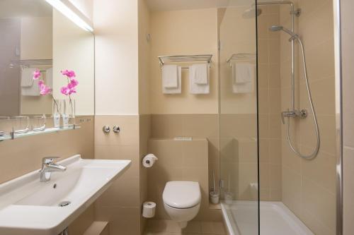 Ein Badezimmer in der Unterkunft Apartment-Hotel Hamburg Mitte