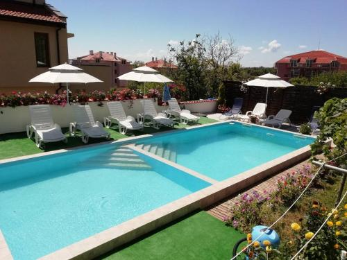 A view of the pool at Villa Kalina or nearby