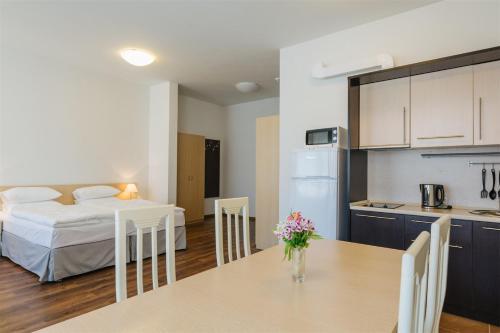 Кухня или мини-кухня в Апарт-отель Имеретинский - Морской квартал