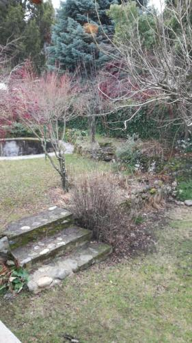 Un jardín fuera de La Casa De La Rosa Mosqueta