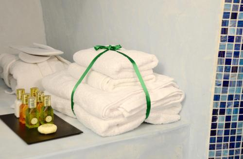A bed or beds in a room at Blue Angel Villa - Angel Villas