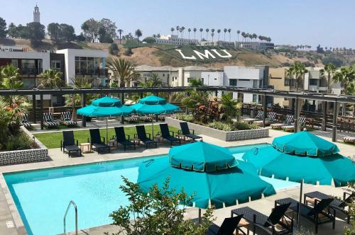 A view of the pool at California Suites or nearby