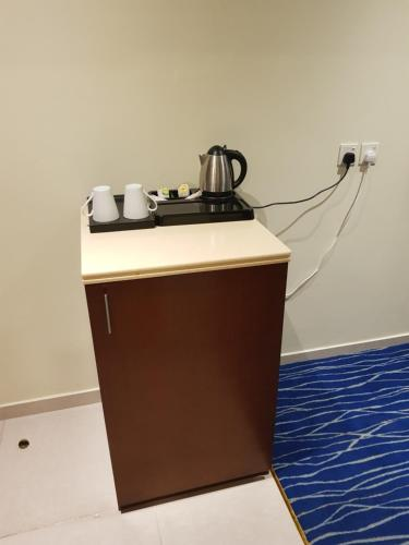 Coffee and tea-making facilities at Tamaya Hotel Apartments