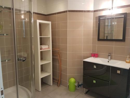A bathroom at Apartment L'Aquarius