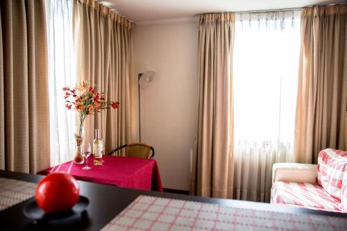 Zona de estar de Boulevard Bellas Artes Suites