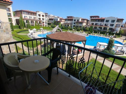 A view of the pool at Elena`s Apartments in Kavatsi Area or nearby