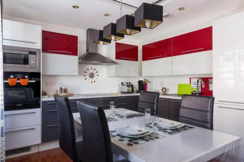 Küche/Küchenzeile in der Unterkunft Appartement La Bagatelle