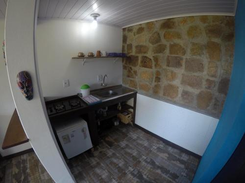 A cozinha ou cozinha compacta de Morada Gralha Azul