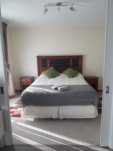 Cama o camas de una habitación en Departamento Completo, Movistar Arena - Fantasilandia - Club Hipico