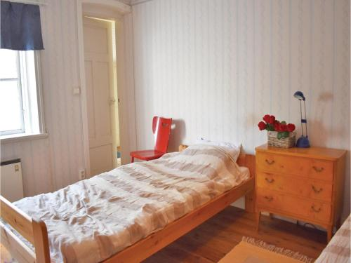 A bed or beds in a room at Holiday home Runstorps Säteri Kimstad