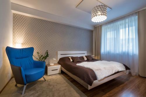 Posteľ alebo postele v izbe v ubytovaní Apartmanica Panorama 35C