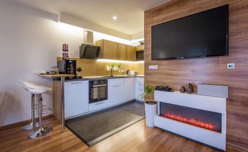 Kuchyňa alebo kuchynka v ubytovaní Apartmanica Panorama 35C