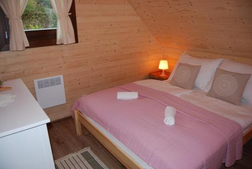 Posteľ alebo postele v izbe v ubytovaní Chata Jakub