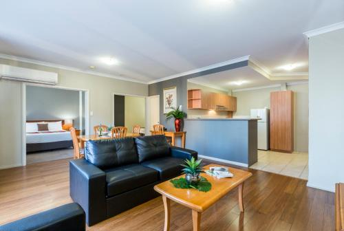 A seating area at Mont Clare Boutique Apartments