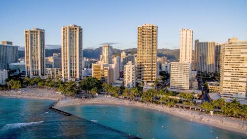 A bird's-eye view of Aston Waikiki Beach Tower
