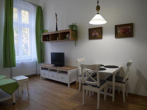 TV a/nebo společenská místnost v ubytování Moskevská 40