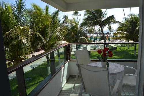 Un balcón o terraza de Condominio Ancorar Flat Resort