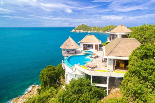 A bird's-eye view of Villa Sabai Jai