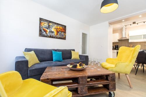 A seating area at Welcome Home