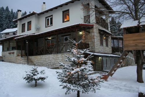 Villa Filokosta during the winter