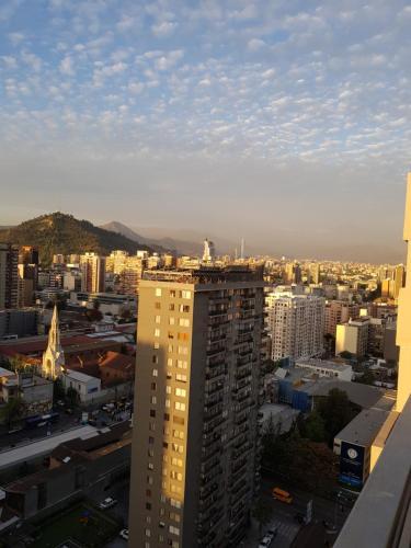 Vista general de Santiago o vista desde el apartamento