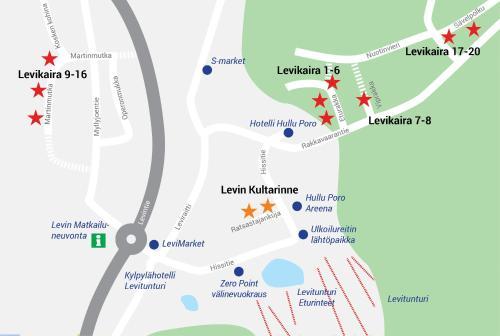 Apgyvendinimo įstaigos Levikaira Apartments - Log Cabins vaizdas iš viršaus