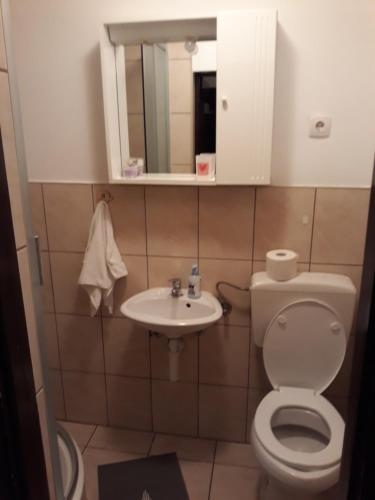 A bathroom at Apartment Anamarija