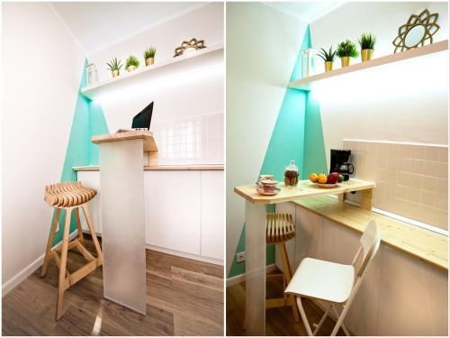 A kitchen or kitchenette at ECOLOFT studio