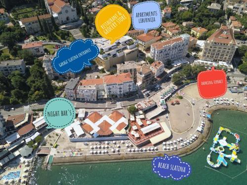 Apartments and Rooms Liburnija с высоты птичьего полета