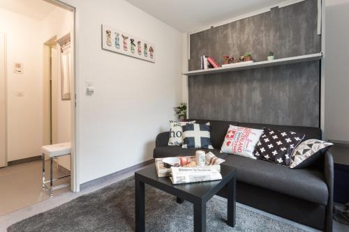 Area soggiorno di Well furnished studio nearby ski-lift