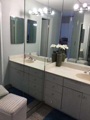 A bathroom at 1700-1900 Ala Moana Hawaii Studio