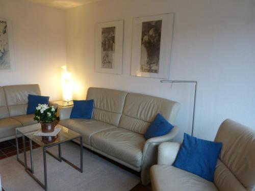 Ein Sitzbereich in der Unterkunft Appartement Kayser Sylt