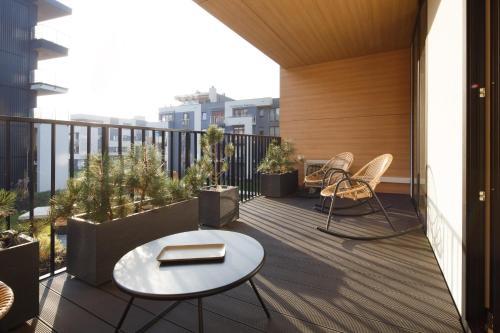 A balcony or terrace at Garden Lane