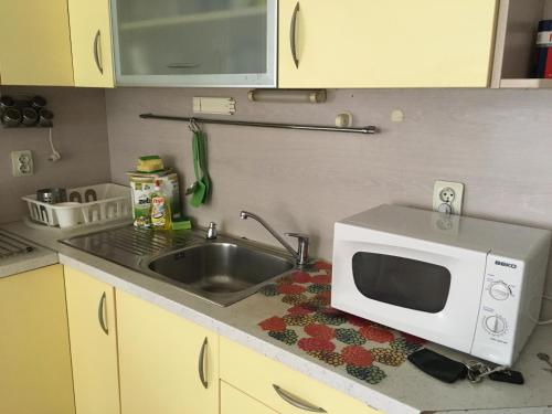 A kitchen or kitchenette at Bulhotel City Apartment 1