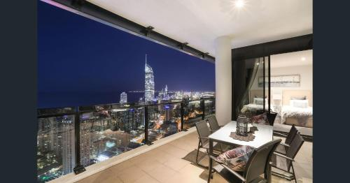 A balcony or terrace at Cavill Avenue Luxury Private Apartments
