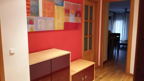 A television and/or entertainment center at Apartment in Tarragona City Centre