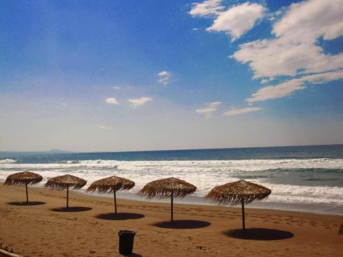 Plaża w willi lub w pobliżu