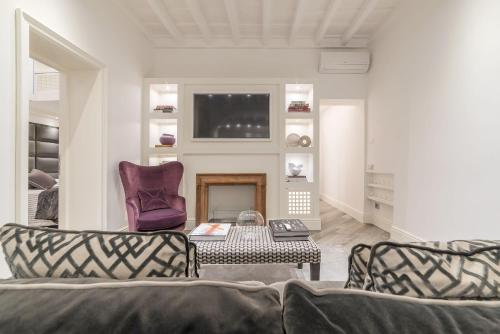 Area soggiorno di Ripetta Boutique Apartment