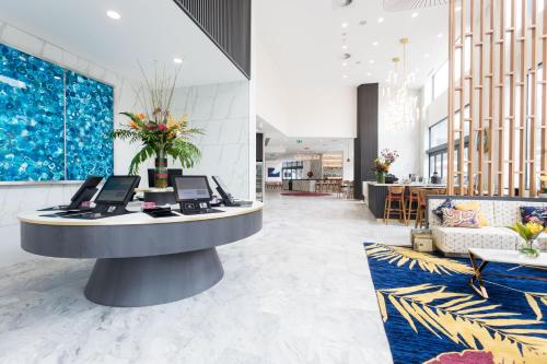 The lobby or reception area at Arise Ruby Collection