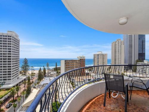 A balcony or terrace at Ocean View Central Surfers Paradise