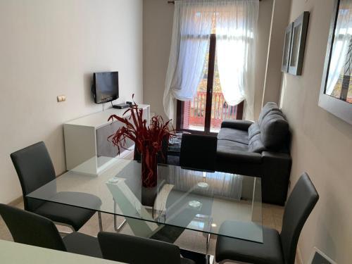 אזור ישיבה ב-Apartments Ramblas108