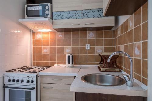מטבח או מטבחון ב-Downtown Apartments